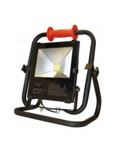 Primaelux LED bouwlamp, op statief 6000K (daglicht), 50 Watt, 5 mtr snoer, Klasse 2