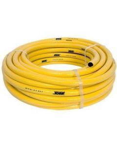 Tricotech Waterslang 19x25mm geel gewapende slang 50 meter lang