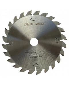 BRINKmarkt Cirkelzaagblad 160x20mm Z-24WZ voor hout en kunststof