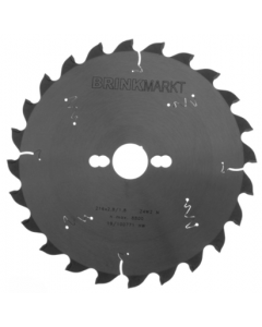 BRINKmarkt Cirkelzaagblad 216x30mm Z-24WZ negatief voor hout en kunststof