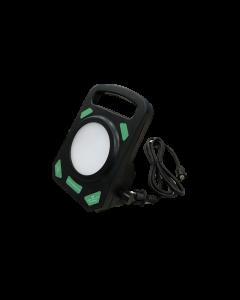 Primaelux LED bouwlamp rubber 30 Watt, 3 mtr snoer, accu oplaadbaar Klasse 3