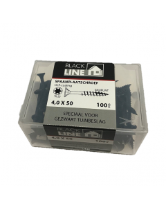 Blackline spaanplaatschroeven 4x50 tx20 100stuks