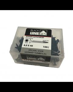 Blackline spaanplaatschroeven 4x40 tx20 100stuks
