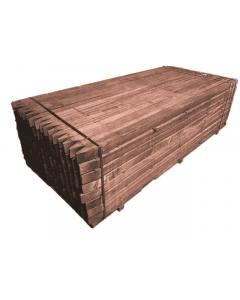 Hardhouten palen geschaafd voor schutting 68 x 68mm met punt