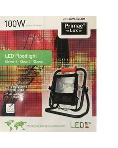 Primaelux LED bouwlamp, op statief 6000K (daglicht), 100 Watt, 5 mtr snoer, Klasse 2