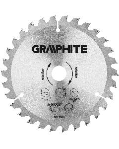Graphite zaagblad 130mm voor hout en kunststof