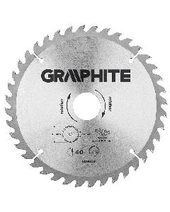 Graphite zaagblad 185mm voor hout en kunststof