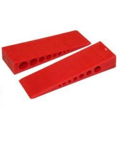 MilliMax Wiggen rood kunststof 25x45x150mm 35 stuks