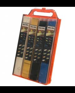 MilliMax dispenser box gevuld met alle soorten uitvulplaatjes